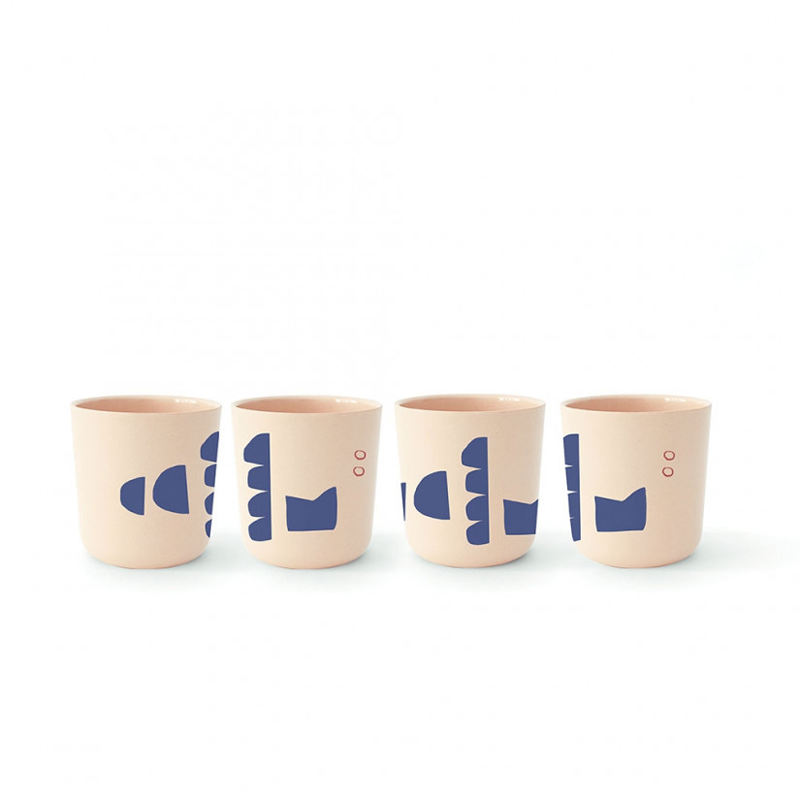 EKOBO - Cup Set - illustrated