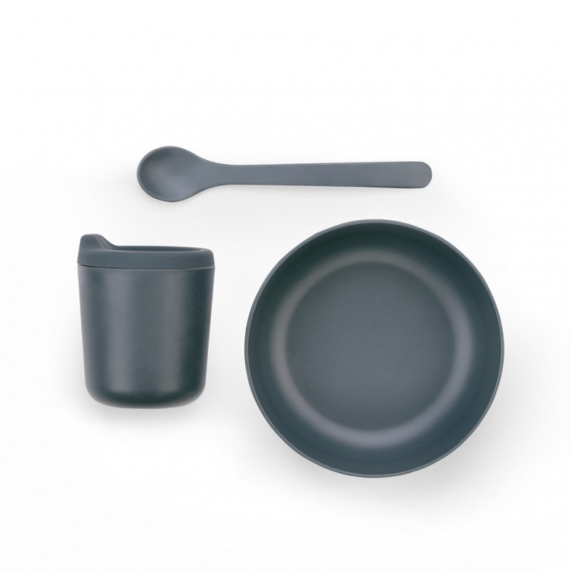 EKOBO - Baby Feeding Set black