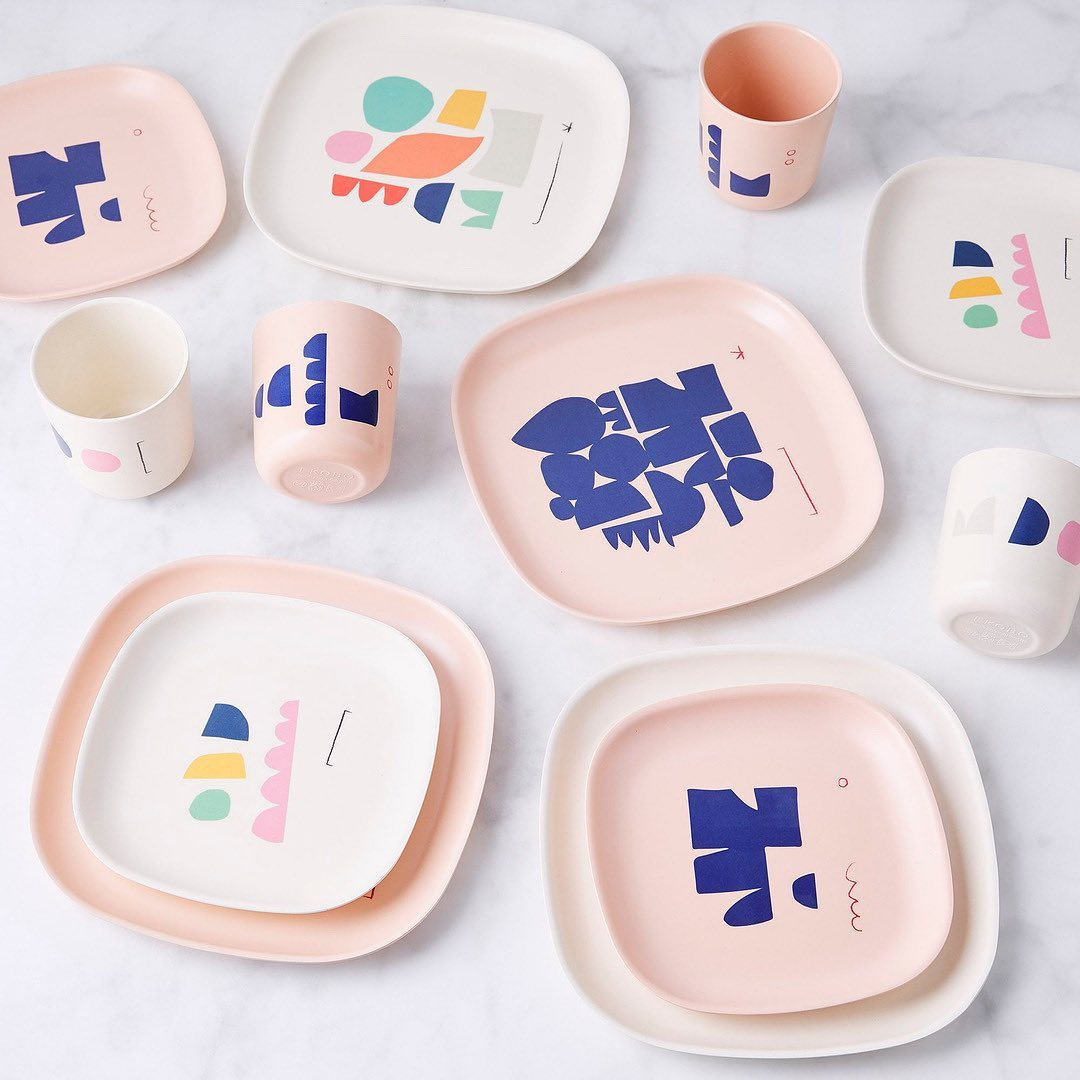 EKOBO - Side Plate Set - Illustrated life-style