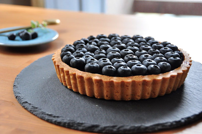雙生藍莓塔 Cheese tart with chocolate and Blueberry