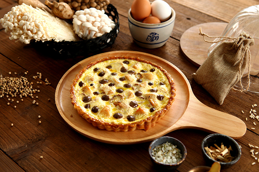 麻油雞野菇鹹派  Sesame oil Chicken &Mushroom Quiche4