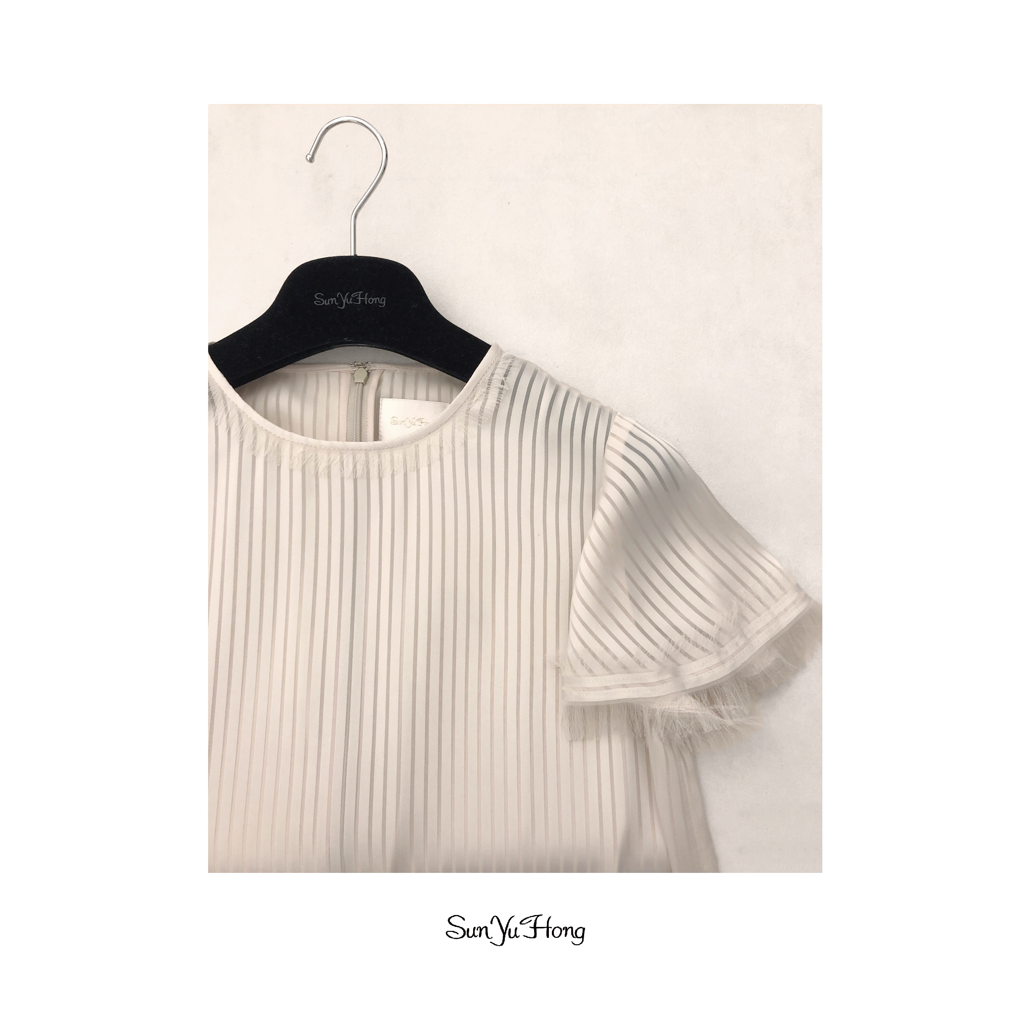 直條紋洋裝Stripe Fringe Dress